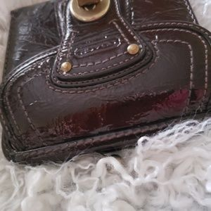 Coach Bags - Coach black patent leather small wallet/coin purse
